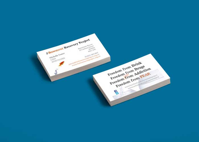 Hydra Marketing business card design and print