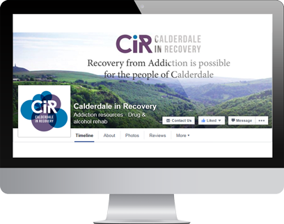 Calderdale in Recovery Facebook Page by Hydra Marketing