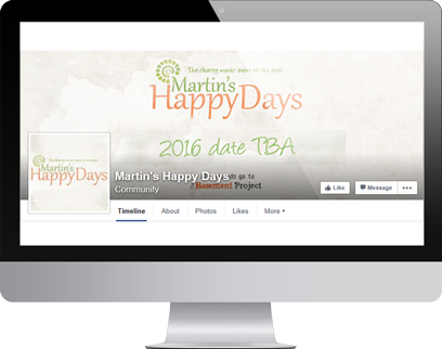 Martins Happy Days Facebook Page by Hydra Marketing