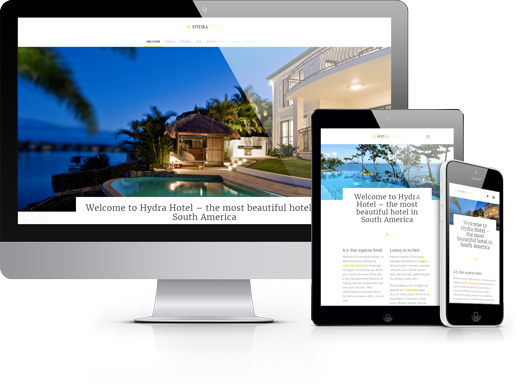 Website Demo for Hotels, Bed and Breakfast, B&B, Bookings