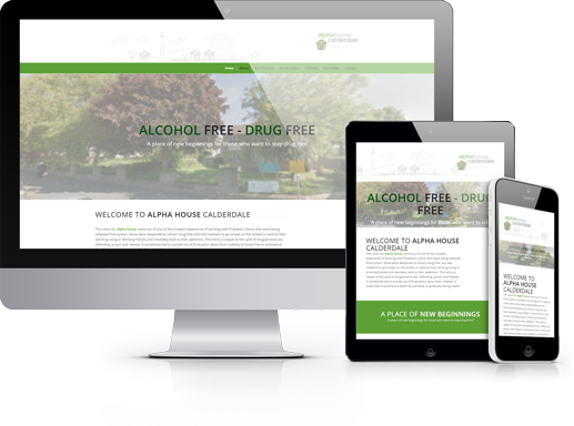 Alpha House Calderdale Website Design by Hydra Marketing