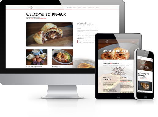 Pie-Eck Huddersfield website design by hydra marketing